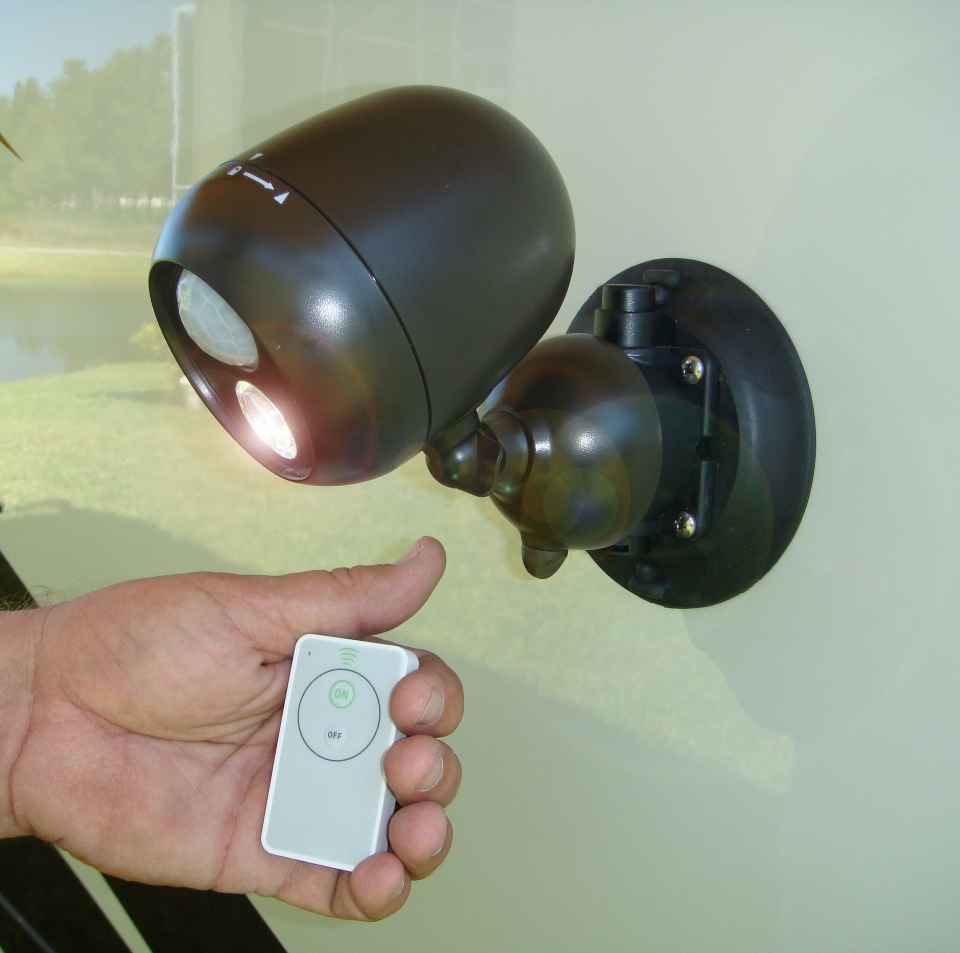 Remote controlled security light sevenstonesinc gostik products security light suction cup mount aloadofball Gallery